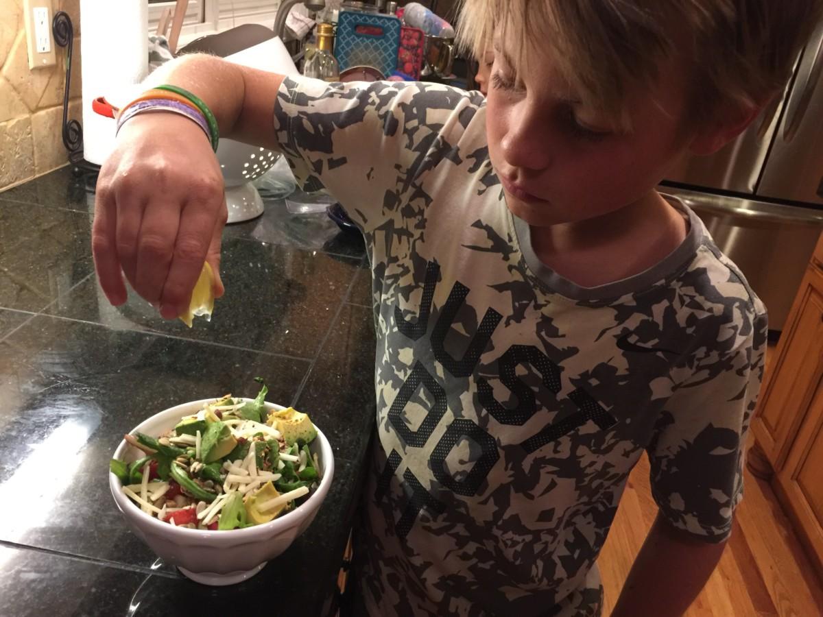 Espen tar gjerne en salat. Lavkarbo for diabetes