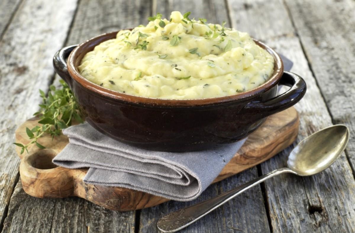 Grønnsaksmos erstatter potetmos. Diabetesvennlig mat