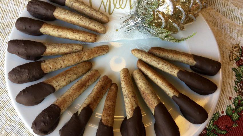 lavkarbo kransekakestenger med sjokolade