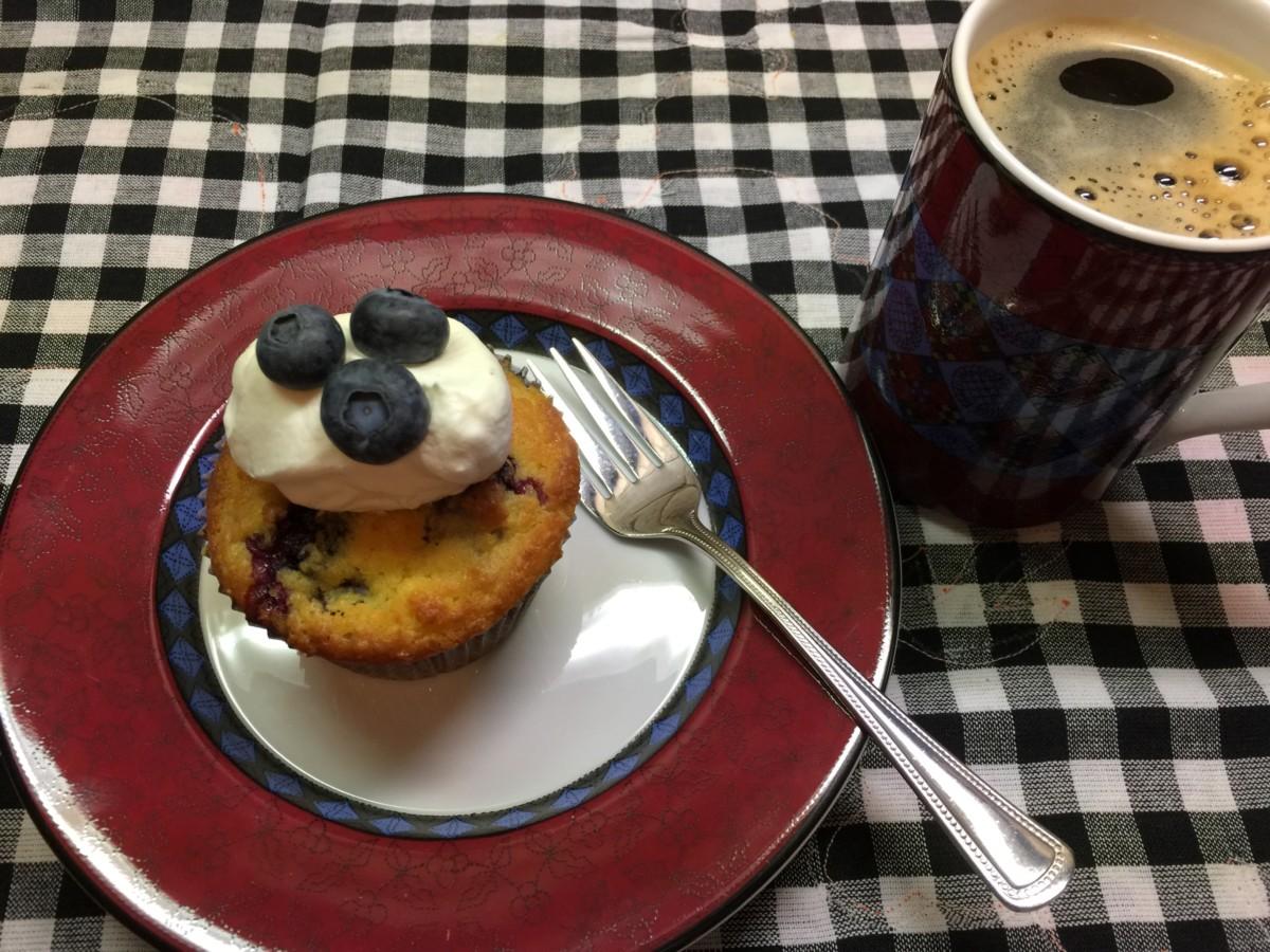 Blåbærmuffins med lite karbohydrater