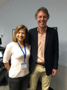 Dr Jake Kushener og Guro Gaarder på lavkarbo konferanse i Houston