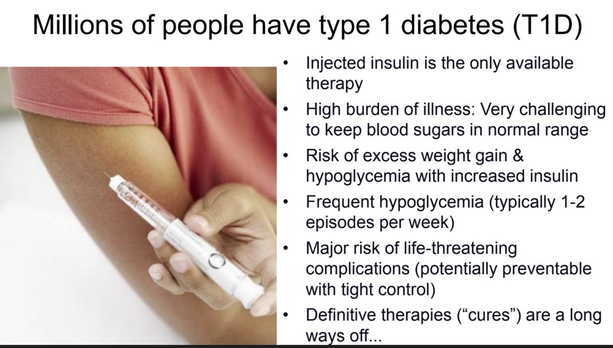 Diabetes type 1. Gjør livet enklere