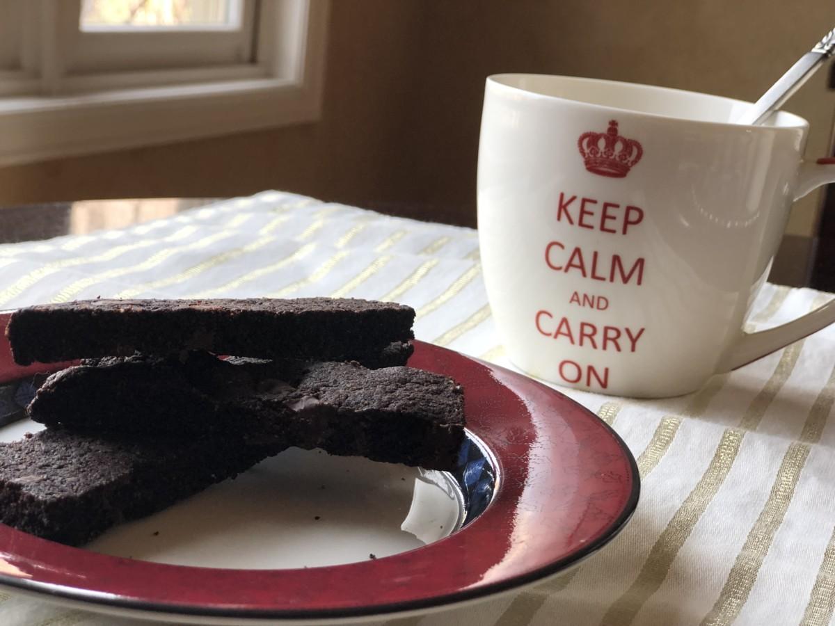 lavkarbo og glutenfrie sjokoladebiscotti