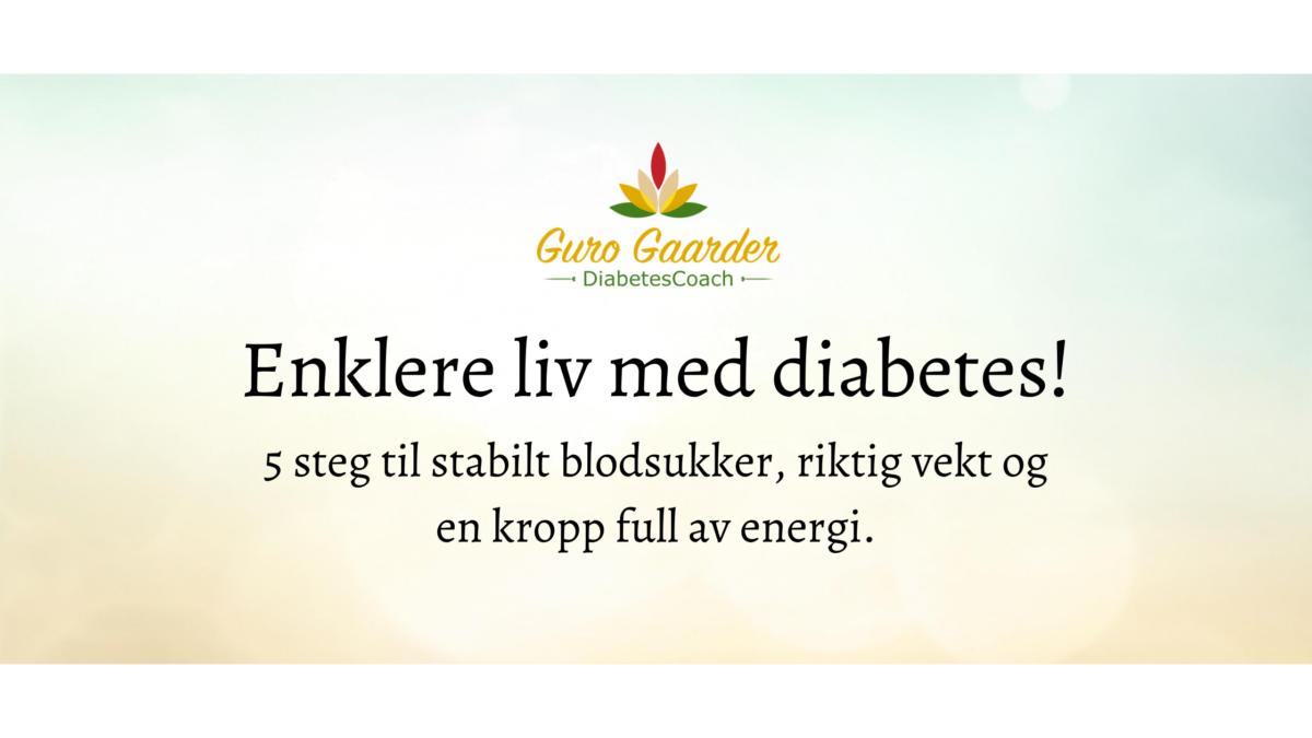 Kurs for et enklere live med diabetes